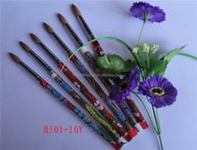 Nail Beauty Nail Brush/tool Colorful Plastic Handle Kolinsky Hair And Round Shape Acrylic Brush With Printing Logo