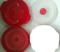 3pcs Plastic Microwave Steamer Set
