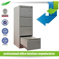 Cheap vertical assemble office furniture metal 4 drawer file cabinet