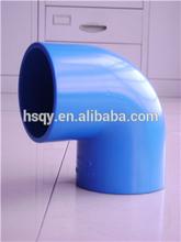 tubería de pvc accesorios de tubería de pvc azul para el codo de tubería de conexión