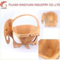 Animal Shaped Bamboo Storage Basket For Fruit