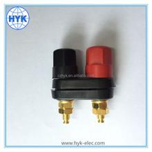 Gold Plated Black 2pin terminal 2 bit audio wiring terminal box banana plug/binding post