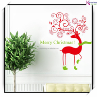 Window sticker for christmas decorations home decals deer festival mual art vinyl decal