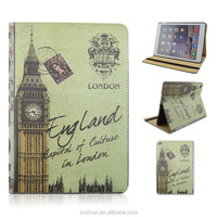 London Big Ben Famous Site Design PU Leather Flip Stand Smart Tablet Covers Case For iPad Air 2 For iPad 6 From Factory