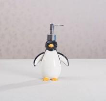 Lovely Penguin Polyresin Bathroom Accessory Dispenser for Children