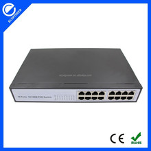 16 port 10/100Mbps 24V POE switch metal case