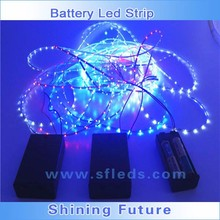 3mm 5mm Width LED Strip Light Battery box Red / Green / Blue / Yellow / Pure White / Warm White / RGB