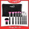 New MSQ 12pcs Pink Color Kabuki Makeup Brush Set