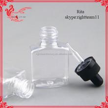 small/squar/unique plastic essential oil bottle, eliquid Plastic Cosmetic square bottle Plastic square dropper bottle