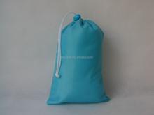 small fabric custom silk printed drawstring bags wholesale