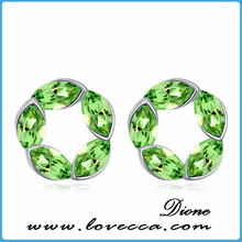 Shades of Green Crystal Earrings Flower Exqusite Crystal Earrings Wholesale