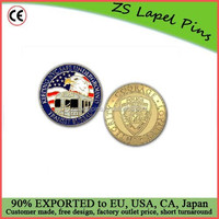 New design quality metal customized challenge coins nypd