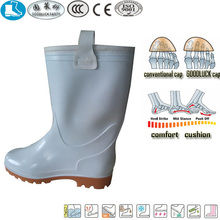 rigger style white yellow pvc wholesale wellingtons work safety boots