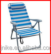hot selling adjustable teslin foldable beach chair for relax camping and outdoor
