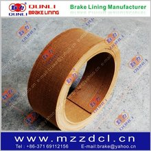 Asbestos free woven brake lining roll with resin