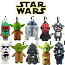 New Style Star Wars Model Yoda R2D2 Darth Maul Vader Boba Fett Soldier USB Flash Drive Pen Drive 8GB 16GB 32GB 128GB Pendrive