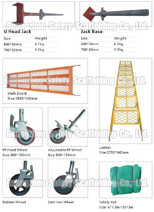 Guangzhou Manufactured Steel H Frame Scaffolding For Sale (Frame Types of Scaffolds)
