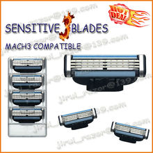 Gilette MACH 3 Compatible Shaving Razor Blades,Grade AAA Quality Razor Blades for Europe&USA