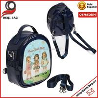 Fashionable Leather Portable Shoulder Backpack Case Bag Kid's School Bag