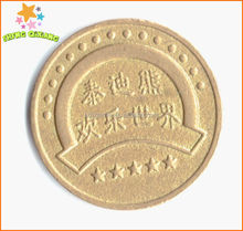 Burma shopping cart grooved token made in China