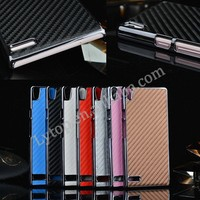 2015 Ultra Thin Case for Huawei Ascend P6, Plastic Back Skin for Huawei P6 Slim Cover, Carbon Fiber Hard Case for Huawei P6