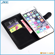 new arrival colorful leather mobile phone case for iphone 6 cover, flip pu wallet leather cell phone case