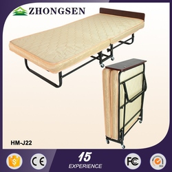 Innovative space saving furniture wooden modern good quality white outdoor folding bed low price
