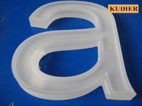 indoor mini crystal acrylic sign board with signage maker