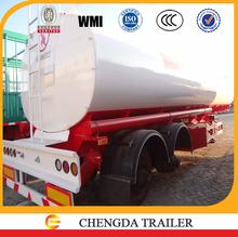 Double axles 35000L petroleum tank semi trailer petrol tanker truck