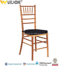 High Quality Stackable Wooden Tiffany Chair for Resturant