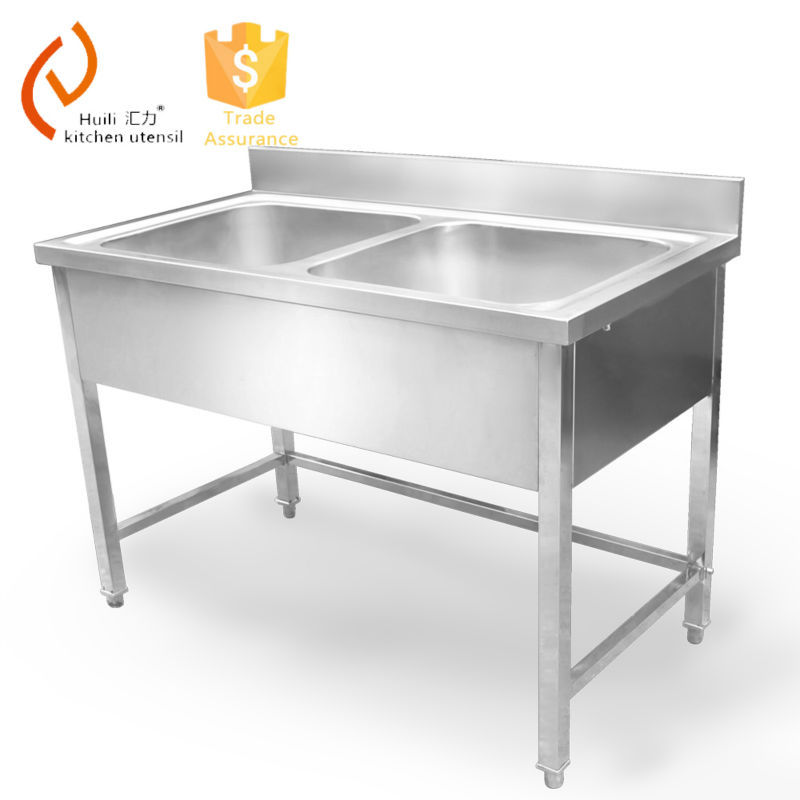 Double Bowl Stainless Steel Sink : Stainless Steel Double Bowl Kitchen Sink Without Faucet For Hotel ...