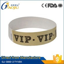 GJ-3000-2 with 17 years manufacture experience tyvek material waterproof paper wristband
