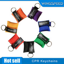 cpr mask keychain with one-way valve mask