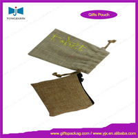 jute bag for tea packing with drawstring