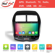 Huifei 10.1 Inch Full Touch Quad Core A9 Android 4.4 Capacitive Touch Screen 1024*600 Car Android Dvd Gps For Mitsubishi Asx