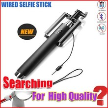 2015 new products channel selfie stick, mini selfie stick with wire NK-1 plus for samsung galaxy s6
