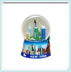 3D skyline 45MM colorful souvenir New York city snow globe