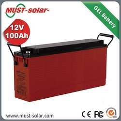 Factory Battery Price 12v 100Ah Front Terminal Gel Battery