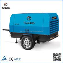 energy saving 8bar portable configuration srew type diesel engine driven screw air compressor