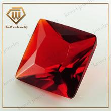 2015 fashion jewelry decorations square bright red glass gemstones