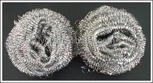 stainless steel wire mesh scourer or galvanized zinc iron scourer