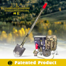 DJSV-IV II Outdoor Snow Shovel with Jeep Emergency Flashlight Tactical Flashlight