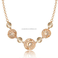 crystal jewelry wholesale gold chain mesh necklace