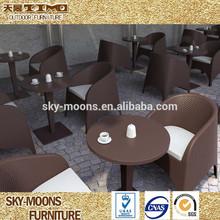 Conjunto de jardín, rota 3 piezas juego de comedor, hideaway de comedor mesa y una silla conjunto para la tienda de café( tc108)