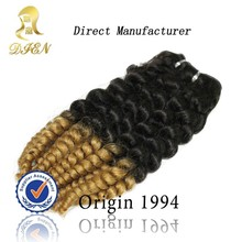 Factory Best Price Two Tone kanekalon ombre color jumbo braiding hair