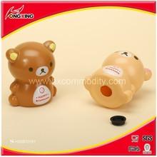 Hot Sale bear cartoon bear design plastic money can/money pot/money box
