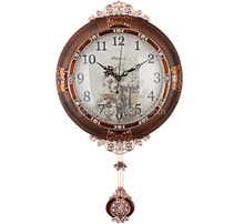 Battery round the sitting room is swept stopwatch European clocks quiet personality clock, wall clock ZX