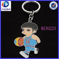 Wholesale Customized Metal Souvenir Basketball Boy Keyring Keychains