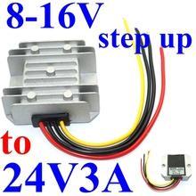 dc voltage regulator 8-16V 9v 12v 14v 15v step up to 24V 3A 72W boost power converter power supply module waterproof for solar