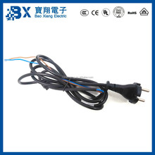 VDE Safety Approval European 2 Pin Plug Power Cords